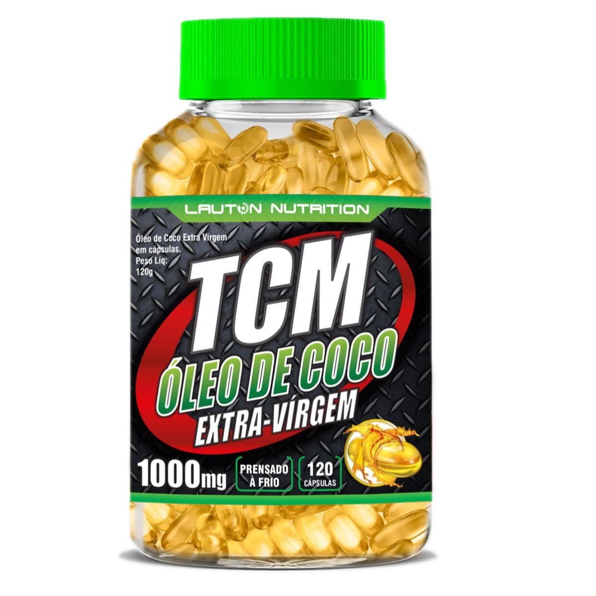 TCM Óleo De Coco Extra Virgem - MCT 120 Cáps 1000mg - Lauton Nutrition