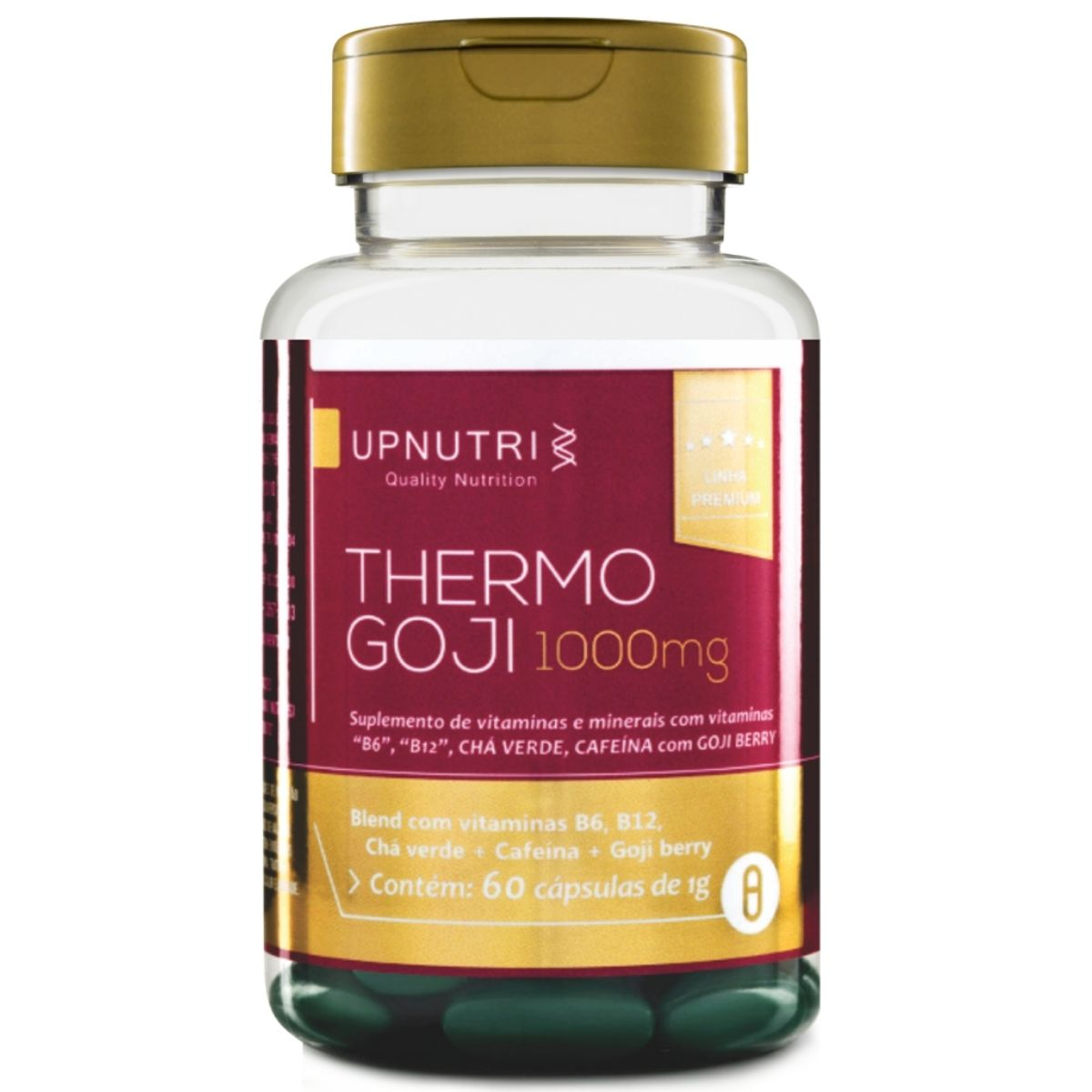 Termogênico Thermo Goji - Chá Verde + Cafeína + Goji Berry 60 Cáps - Upnutri