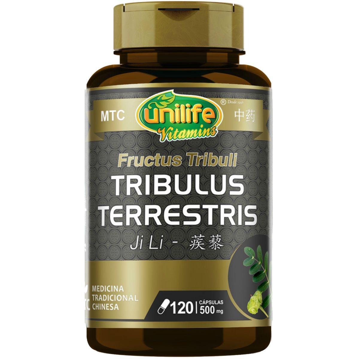 Tribulus Terrestris MTC 500mg 120 Cápsulas - Unilife