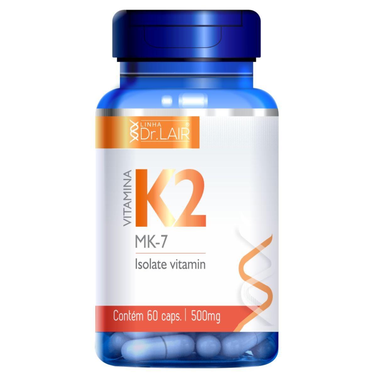 Vitamina K2 Menaquinona 60 Cápsulas 500mg Dr. Lair - Upnutri