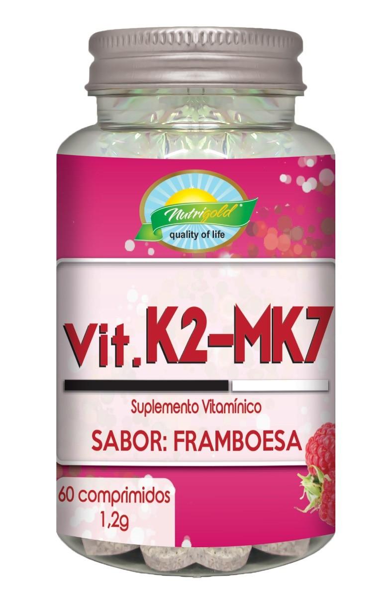 Vitamina K2 Menaquinona Mk7 60 Comp 1,2g Sabor Framboesa