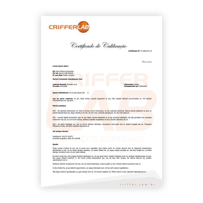 CAL-008 Certificado de calibração para calibrador acústico
