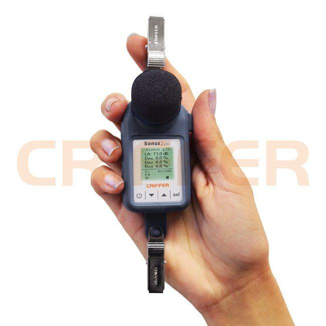 Locação semanal de 1 dosímetro de ruído sem fio Sonus-2 plus