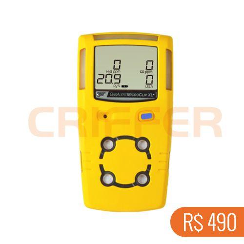 Locação semanal de 1 detector de 4 gases