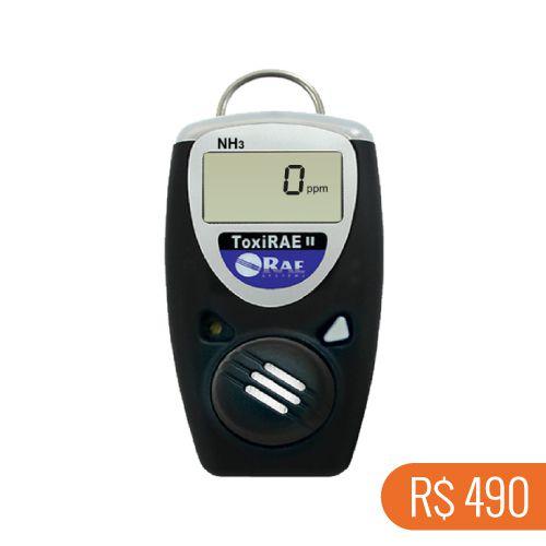 Locação semanal de 1 detector de amônia digital Toxi-Rae NH3