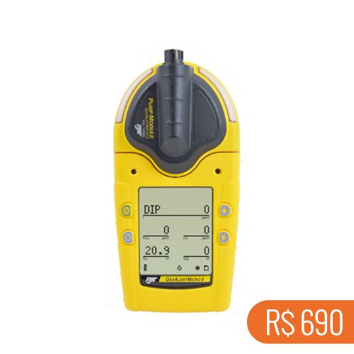 Locação semanal de 1 detector de PID (VOC's) e gases combustiveis GasAlert Micro 5 PID