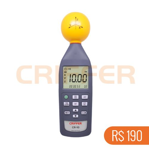 Locação semanal de 1 medidor de campo eletromagnético CR-10