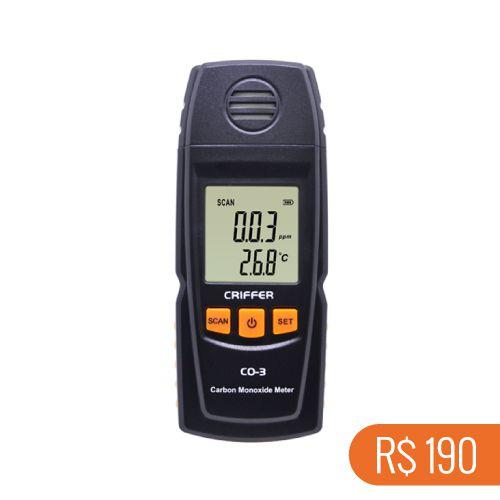 Locação semanal de 1 medidor de monóxido de carbono (CO) CO-3