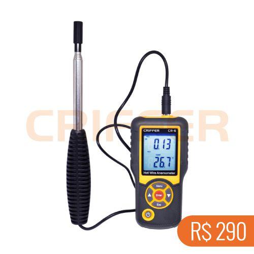 Locação semanal de 1 termo anemômetro de fio quente CR-6