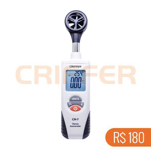 Locação semanal de 1 termo anemômetro digital CR-7