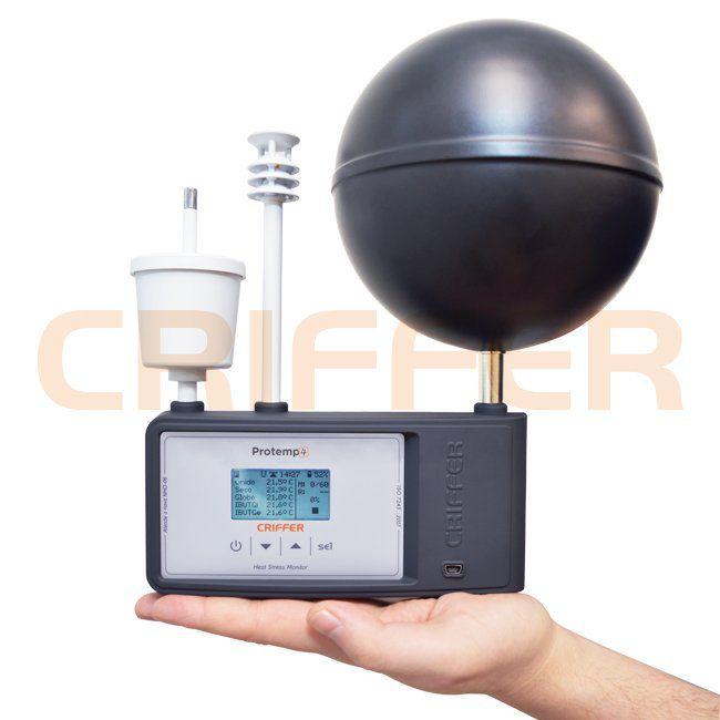 Locação semanal de 1 termômetro de globo digital com datalogger (IBUTG) Protemp-4
