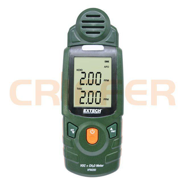 VFM 200 Detector de Formaldeído (HCHO ou CH20) e Gás Volátil (TVOC)