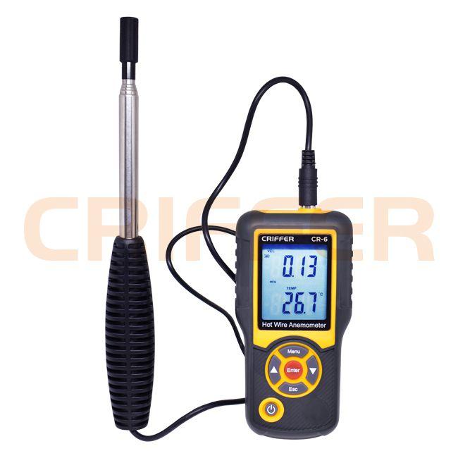 CR-6 Anemómetro térmico digital de hilo caliente