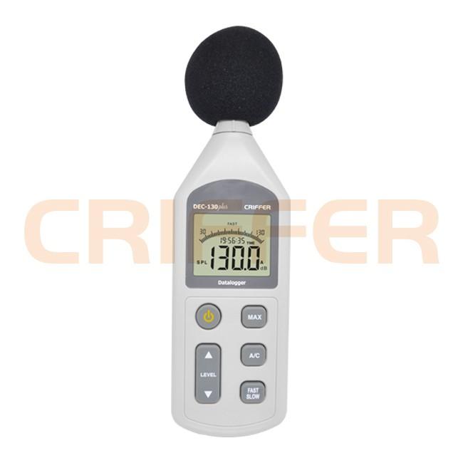 DEC-130 Plus Medidor de nivel de sonido con datalogger
