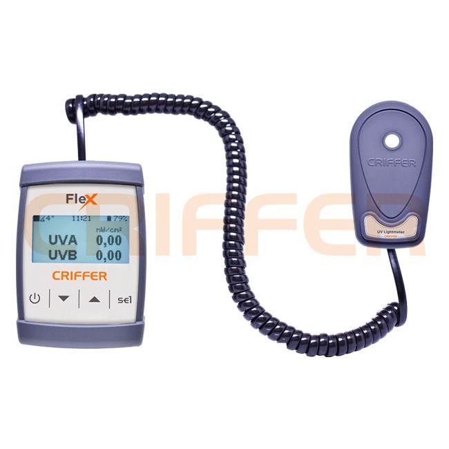 FLEX-04 Medidor de ultravioleta UVA y UVB