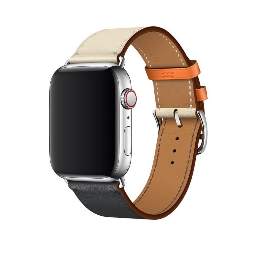 Pulseira Apple Simple Hermes 38/40 42/44 Couro Sintético