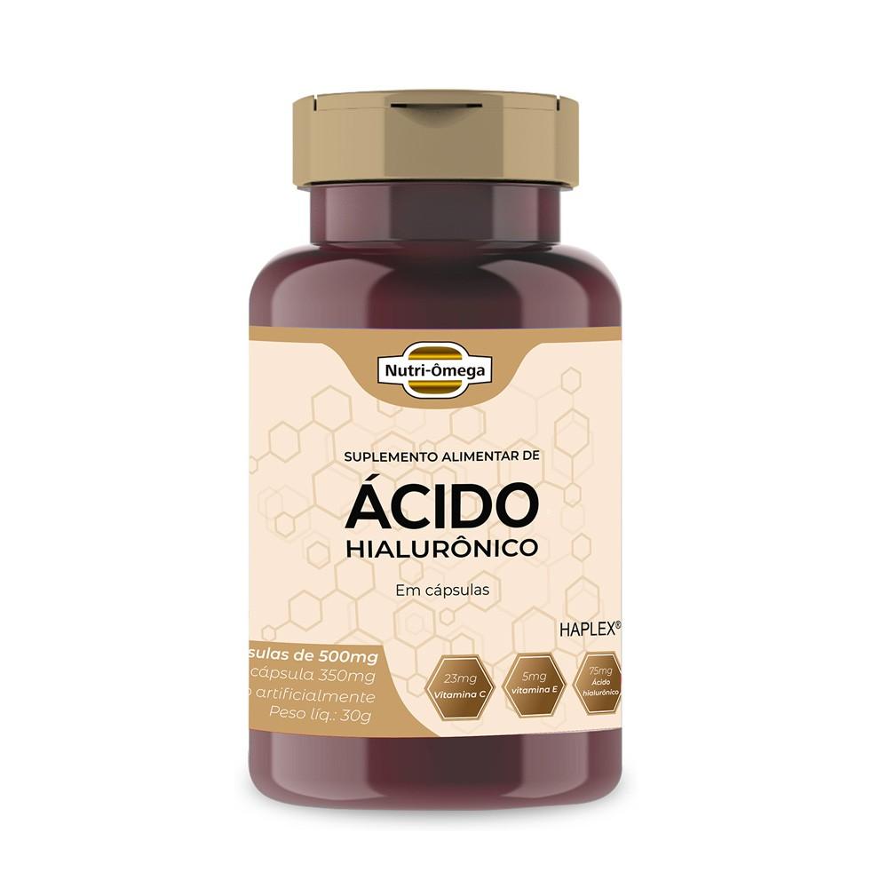 Ácido Hialurônico 75mg com Vitaminas, Rende 02 Meses.
