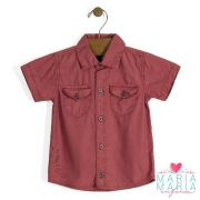 Camisa Manga Curta Coral
