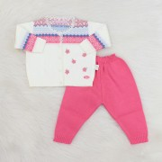 Conjunto Catarina Pink e Off White