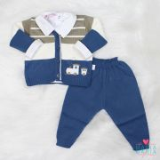Conjunto Trenzinho Azul Jeans
