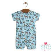 Macacão Curto Cachorrinho Azul