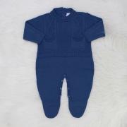 Macacão de Tricô Theo Azul Jeans