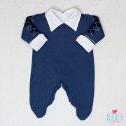 Macacão Jacar Escocês Azul Jeans e Marinho