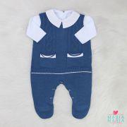 Macacão Trança Azul Jeans + Body