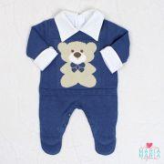 Macacão Ursinho Azul Jeans