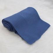 Manta Tricô Básica Azul Jeans