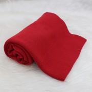 Manta Tricô Básica Vermelho