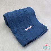 Manta Trancinhas Azul Jeans