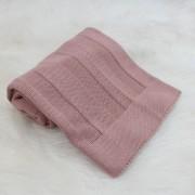 Manta Tricô Básica Rosê