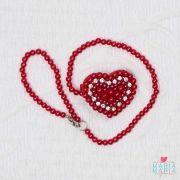 Prendedor de Chupeta Coração Vermelho