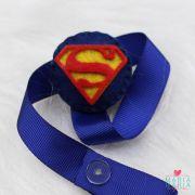 Prendedor de Chupeta Superman Azul Bic