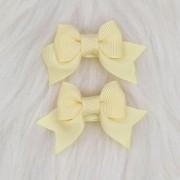 Presilha Bico de Pato Laço Baby Amarelo