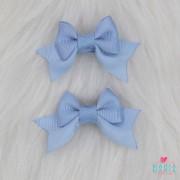 Presilha Bico de Pato Laço Baby Azul