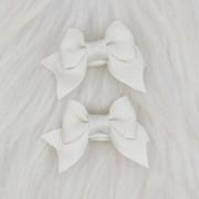 Presilha Bico de Pato Laço Baby Off White