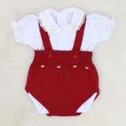 Romper de Tricô Bordô + Body