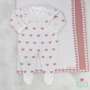 Saída de Maternidade Amore Baby Off White e Rosê