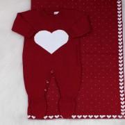 Saída de Maternidade Amore Bordô