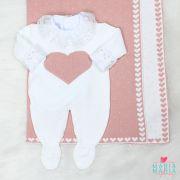 Saída de Maternidade Amore Branco e Rosê