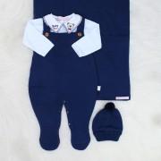 Saída de Maternidade Baby Bear Marinho + Body