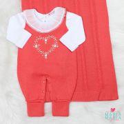 Saída de Maternidade + Body Coração Coral