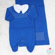 Saída de Maternidade + Body Pontinho Azul Bic