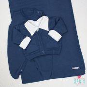 Saída de Maternidade Bolso Azul Jeans