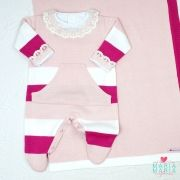 Saída de Maternidade Canguru Pink e Rosa