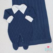 Saída de Maternidade Colméia Azul Jeans