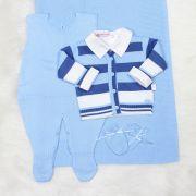 Saída de Maternidade Fofo Azul e Azul Jeans