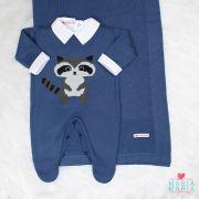 Saída de Maternidade Guaxinim Azul Jeans